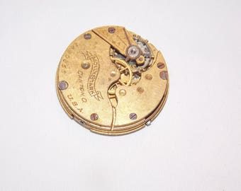 Antique 28mm  Pocket Watch Movement