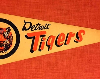 Vintage Detroit Tigers Pennant