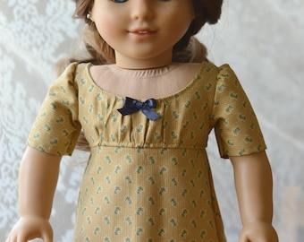 Doll Dress Regency for American Girl 18 inch doll Caroline Josephina Yellow
