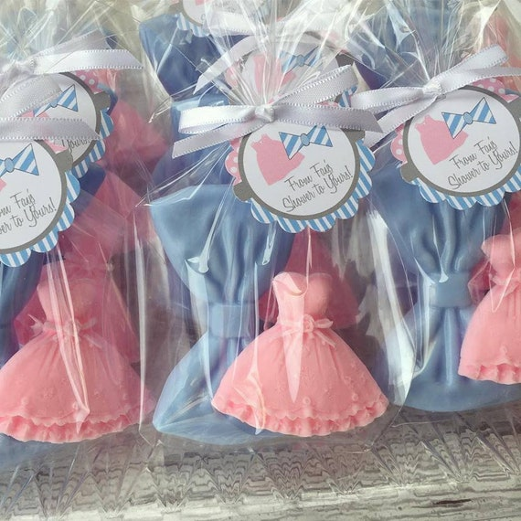 20 Dress Tie Soaps 10 Favors Twin Baby Shower Soap Favors