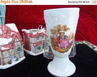On Sale Vintage Limoges Porcelaine Victorian Lovers Vase Made in France