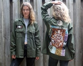 Sister of the Moon Army Jacket - Vintage, Feminist, Patchwork