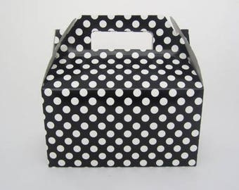 Set of 24 Black Polka Dot