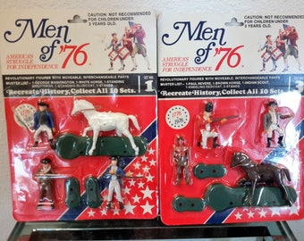 Men Of 76 America's Struggle For Independence Action Figures 2 Sets #1 AND #3 Of Ten Total For Ages 3 and Up 1975 Innovative Promotions Inc