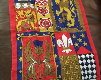 Vintage Decorative Linen irish Tea Kitchen Towel ulster kitschy regalia