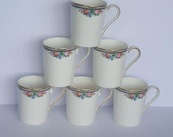 Vintage Christpher Stuart Bone China Coffee Tea Mugs Cups Y1008 set of 6