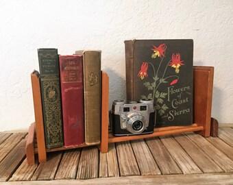 Vintage Wood Book Stand