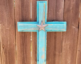 Distressed Wooden Cross