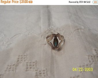 TWICE A YEAR, 25% Off Vintage Avalone Ring. Sterlling Silver.