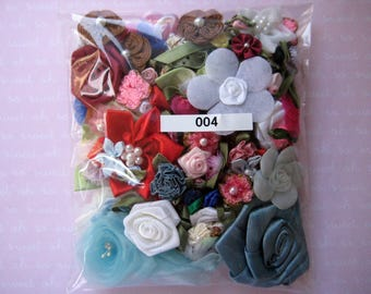Assorted Appliques, GRAB BAG, Multi Combo for Sewing, Crafting, Scrapbooking Embellishment, Hair Accessories, Doll Clothes 1 Bag 004