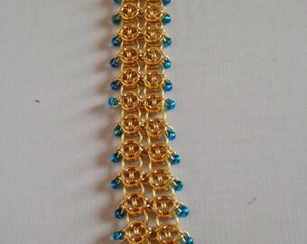 Golden Blue Visions Bracelet