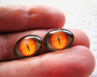 Oval glass eyes,snake eyes,dragon eyes,18x13mm cabochon,small oval glass cabochons