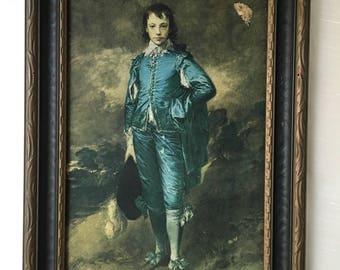 Blue Boy 1920s Lithograph