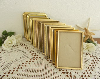 Vintage Gold Metal Picture Frame 3.25 x 4.25 Photo Decoration Mid Century Hollywood Regency Home Decor Rustic Shabby Chic Country Wedding