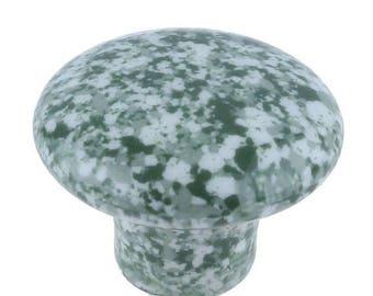 On Sale Set Of 8, Speckled, Ceramic, Cabinet Knob, Drawer Pull green, white, Enamelware, Granite ware, furniture knobs, Graniteware
