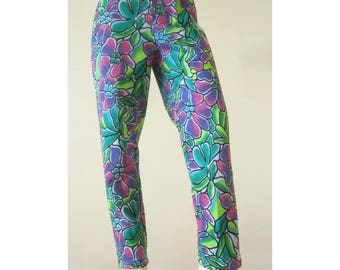 Rad 80sTropical Jungle Pants - Small - Deadstock with tags