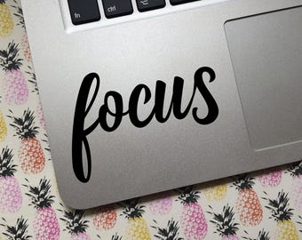 FOCUS vinyl decal - choose COLOR and SIZE  -  laptop decal, water bottle, decoration, Inspiration, Motivation,  Reminder