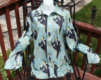 Vintage Shirt 1970s Polyester
