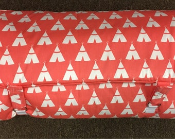 nap mat coral teepee with coral  blanket