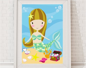 Lucy Mermaid Print