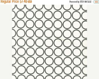 "SUMMER SALE End of Bolt - 29""X44"" of Grey Circles on Cream Metro Living From Robert Kaufman"