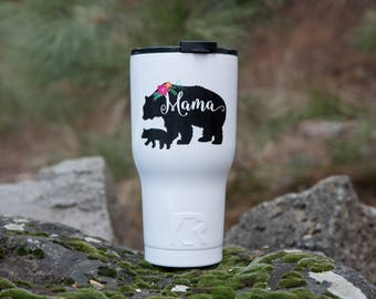 Personalized Gift for Mom // RTIC Tumbler Mama Bear //  Monogram Tumbler  //  30oz Personalized Tumbler // Personalized insulated tumbler