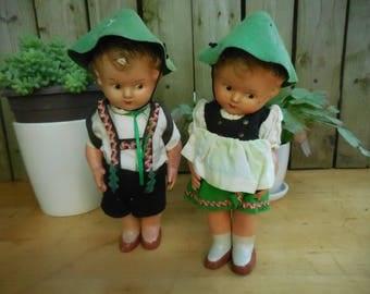 Vintage Steha Hansel & Gretel West German Doll 1940-1950