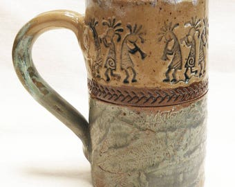 southwest kokopelli 16oz ceramic coffee mug 16D072