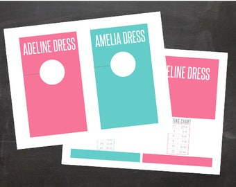 Fashion Retailer Consultant Style Divider Rack Cards with Size Chart for all Styles INSTANT DOWNLOAD