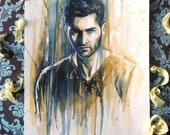 Derek Hale - tyler hoechlin - watercolor. NO FRAME