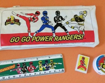 Vintage Power Rangers Pencil Case - 1994