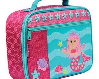 Personalized Mermaid Lunch Box by Stephen Joseph / Personalized Kids Lunch Box / School Gear Lunch Bag / Elementary School Lunch Box / Gift