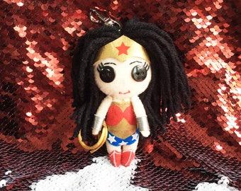 Wonder Woman bag charm Keychain Back View mirror charm Ornament