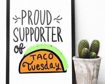 Printable: Taco Tuesday Print