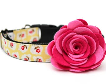 Dog Collar Flower Add-on Felt Flower