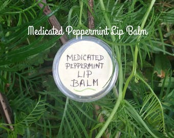 Medicated Peppermint Lip Balm - Lip Balm - Tamanu Oil - Herbal Remedies - Natural Remedies - Salves - Elusive Wolf