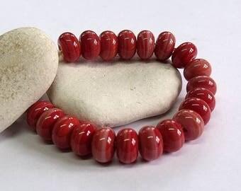 Winter Coral, Lampwork Spacer Beads, SRA, UK