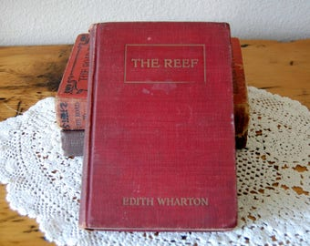 Vintage The Reef by Edith Wharton Book Vintage Hardcover Book Vintage Novel Antique The Reef by Edith Wharton from The Eclectic Interior