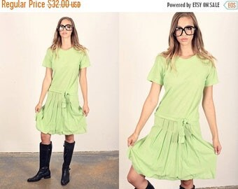 FLASH SALE 60s Green Mod Dress Vintage Mint Green Mini