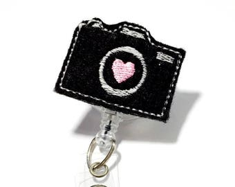 Camera badge holder Nurse badge reel cute badge reel retractable badge holder id badge holder badge reels badge clip name badge reel name