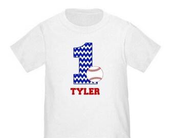 ON SALE Baseball Personalized Birthday Shirt - ANY Age
