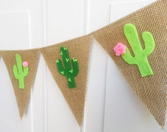 Cactus Banner - Cactus Decor - Cactus Party - Cactus Garland - Cactus Baby Shower - Summer Banner - Fiesta Party Decorations - Taco Party