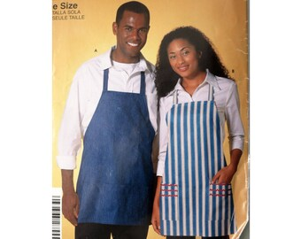 Apron, Pattern, Simplicity 5154, INCUT, Bib Apron, Kitchen Accessory, Butcher Apron, One Size, So Easy Pattern. Apron With Pockets