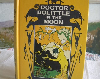 Doctor Dolittle In The Moon HC  written and illustrated by Hugh Lofting 1956