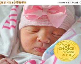 SALE 25% OFF newborn hospital hat newborn bow hat newborn girl hat newborn beanie newborn hospital hat with bow baby girl hat baby beanie, b