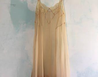1920s French Slip Dress Delicate