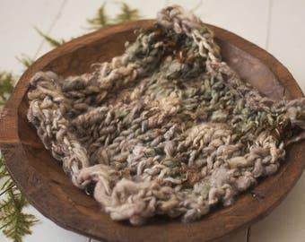 Handspun natural curls layer fluff blanket newborn photography prop