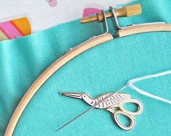 Magnetic needle minder designed by Mollie Johanson from Wild Olive, enamel needle keeper