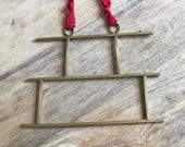 Large Pagoda Necklace in Brass