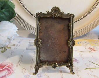 Antique vintage French divine  decorative metal photo, picture frame